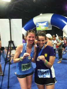 Stacey and I after the Run to Remember Half/ 5 Miler