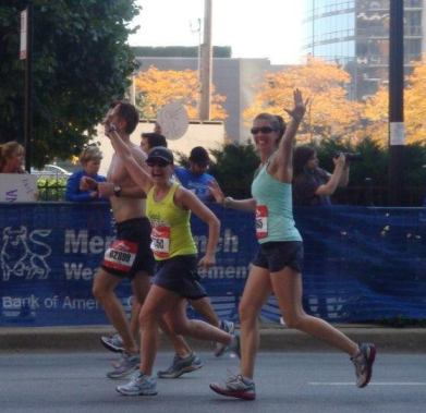 Chicago Marathon (marathon #11) with Kate.  We run like girls