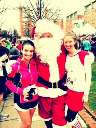 Stacey and I with Santa post Winter Classic 5k