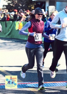 lululemon run swiftly, Brooks vest and Run Free Pant - Hyannis Half 2012