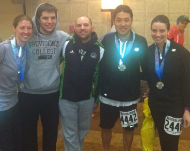 Team Soggy Post Race: Me, Nick Gianitsis, John Gianitsis, Brian Yoon and Stacey Kinnier