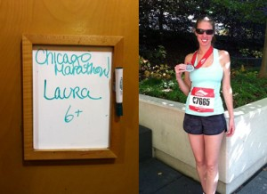 The Burlington Staff helped me choose a great ensemble for the 2011 Chicago Marathon