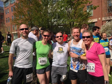 With friends after the Spring Classic 5k