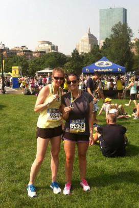 BAA 10k on Boston Common with Stacey