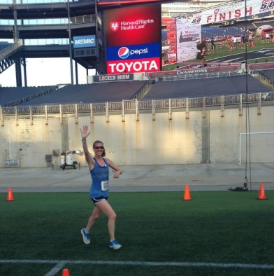 Rachel shot this great pic of me heading to the finish.