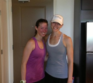 After a sweaty 8 miles for me and 10 for the birthday girl!