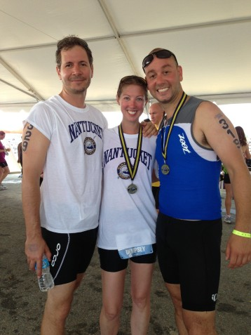 Brian, Laura, and Jared - Nantucket Tri 2013 Finishers!