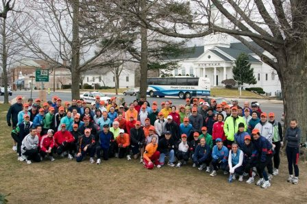 The 2006 Run for Research team in Hopkinton