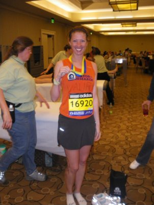 After completing the 2010 Boston Marathon