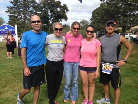 Dennis Kristina Laura Stacey and Brian waiting for Duncan to finish his last run.