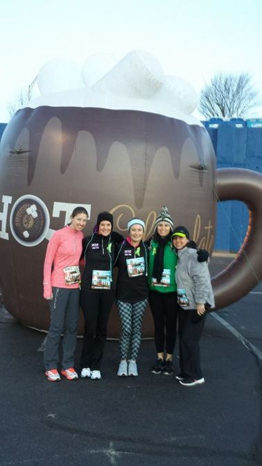 Pre race photo with Michelle, Jane, Jennifer and Lisa