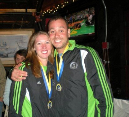 Jared and me rocking matching unicorn jackets (2011)