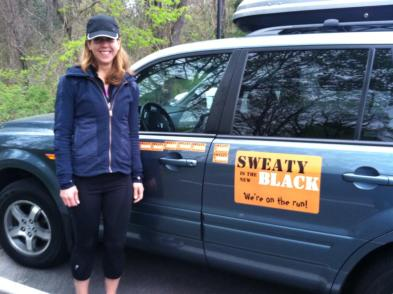 Barbara with Van 1 (which is actually her Honda Pilot)